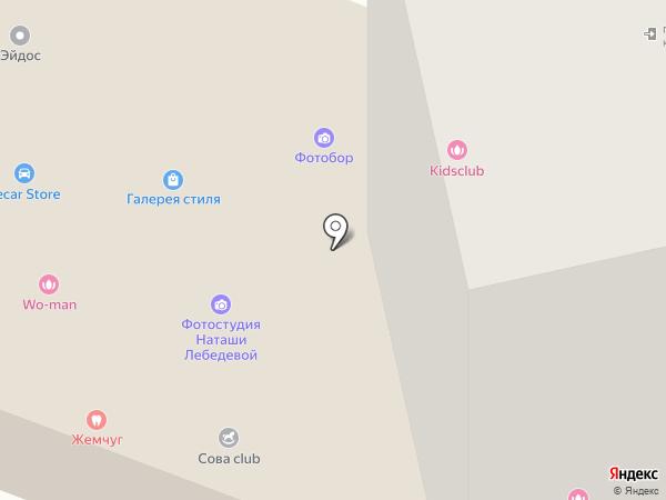 Моховые горы на карте Бора