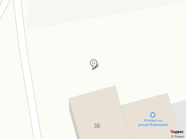 Ателье на ул. Баринова на карте Бора