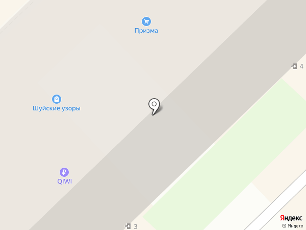 Силуэт на карте Кстово