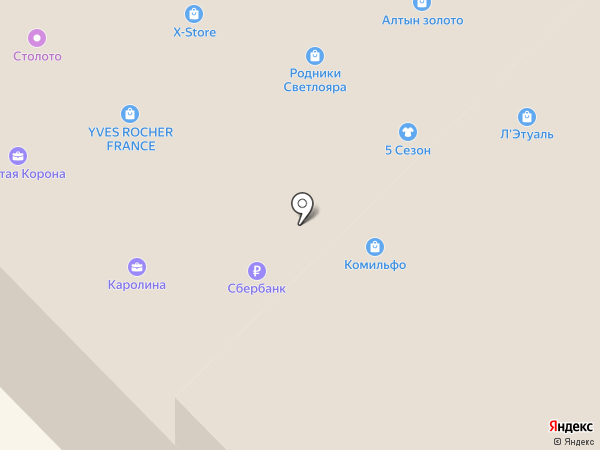 Атолл на карте Кстово
