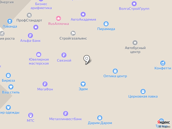 Москва на карте Кстово