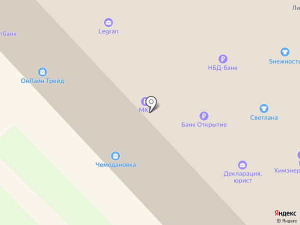 Зима-лето на карте Кстово
