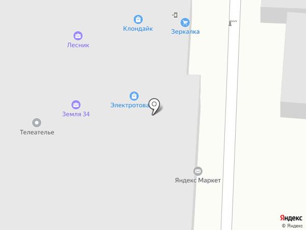Клондайк на карте Волгограда