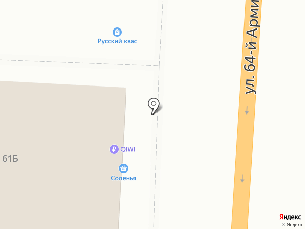 Московский комсомолец в Волгограде на карте Волгограда
