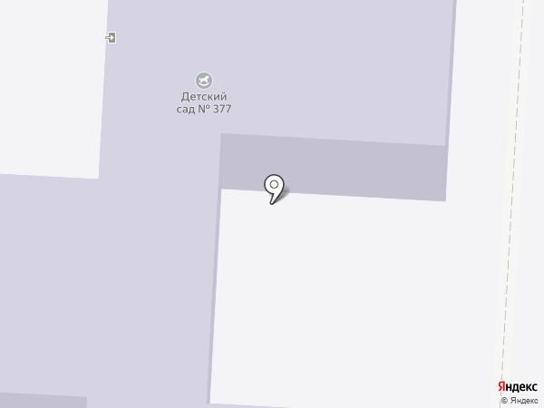 Детский сад №377 на карте Волгограда