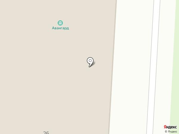 Авангард на карте Волгограда