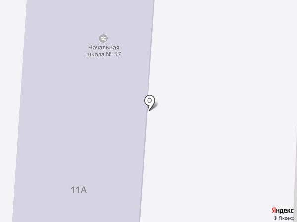 Средняя общеобразовательная школа №57 с углубленным изучением отдельных предметов на карте Волгограда