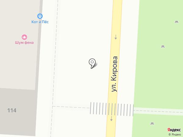 Цирюльник на карте Волгограда