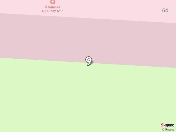 Поликлиника №1 на карте Волгограда