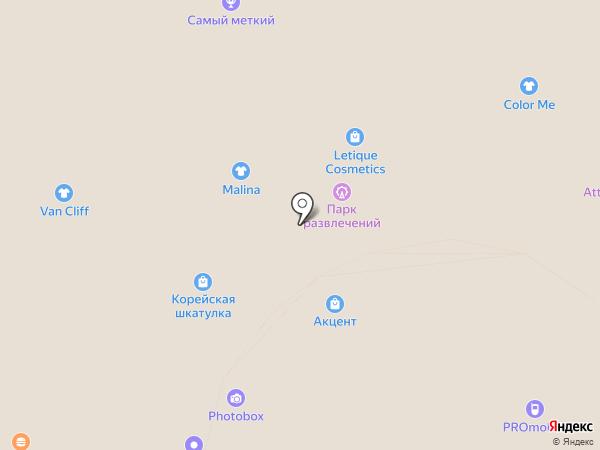 Акцент на карте Волгограда