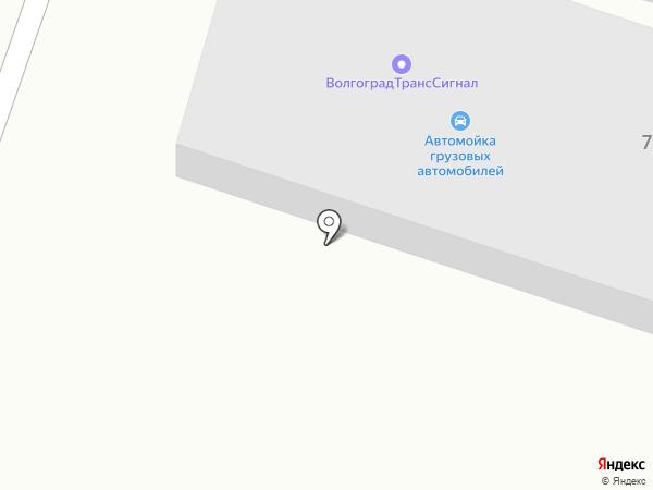 Автомойка грузовых автомобилей на карте Волгограда