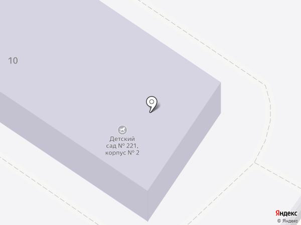 Детский сад №221 на карте Волгограда