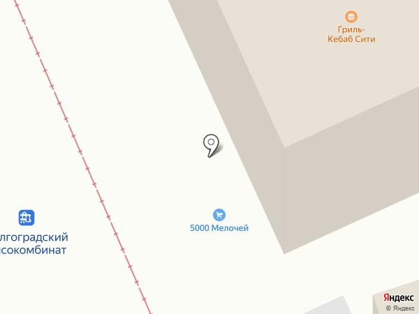 Тепличный на карте Волгограда