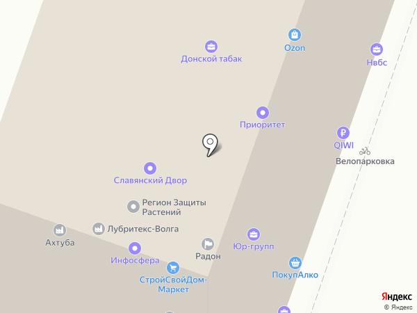 ТОП-10 на карте Волгограда