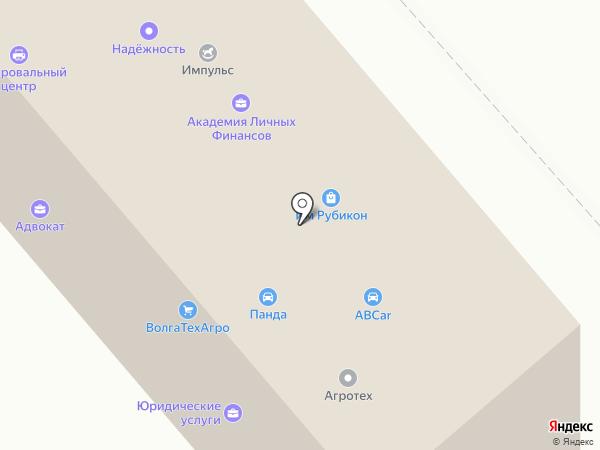 Вихрь на карте Волгограда