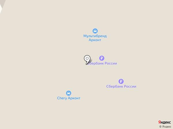 Арконт на карте Волгограда