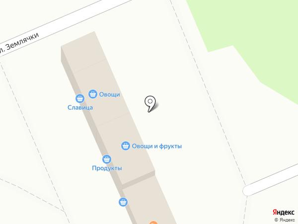 Магазин овощей и фруктов на карте Волгограда