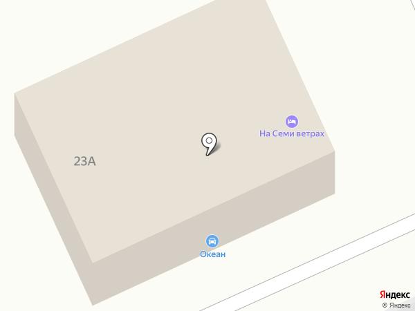 На Семи ветрах на карте Волгограда