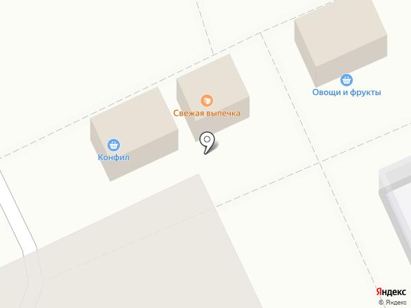 Сеть киосков и магазинов хлебобулочной продукции на карте Волгограда