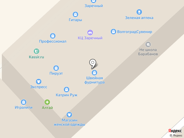 Рублёв-Град на карте Волгограда