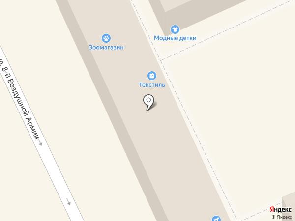 Магазин домашнего текстиля на карте Волгограда