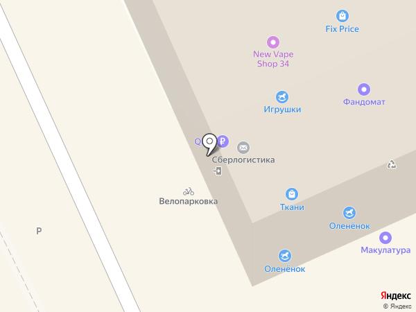 Магазин смешанных товаров на карте Волгограда