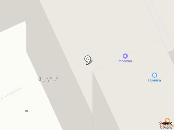 Прялка на карте Волгограда