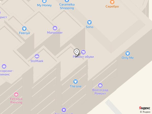 Экспилайн на карте Волгограда