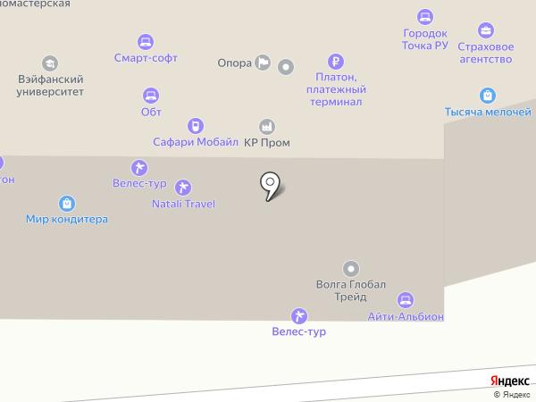 Технодар на карте Волгограда