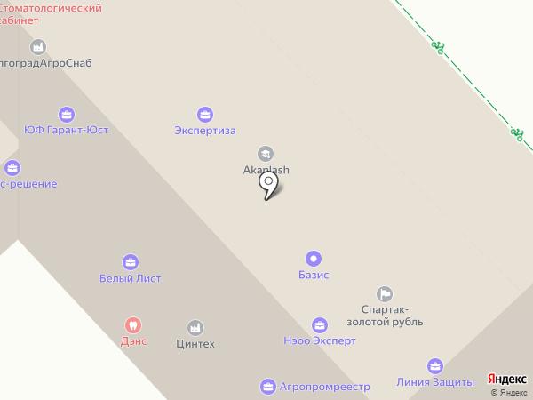 Пересвет на карте Волгограда