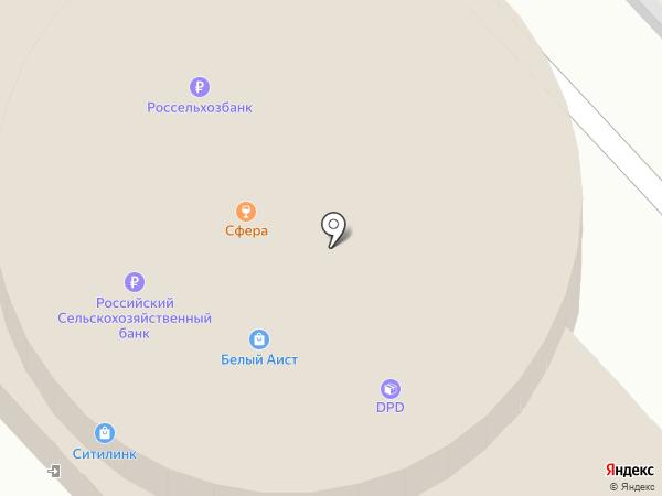 Белый Аист на карте Волгограда