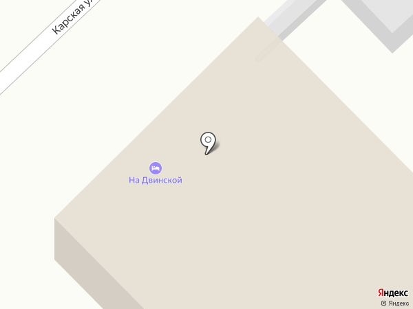 На Двинской на карте Волгограда