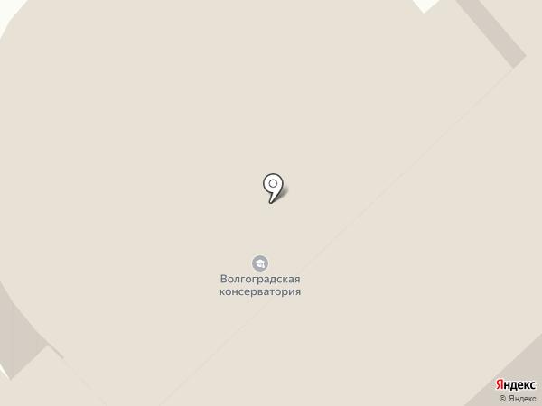 Волгоград-квартет на карте Волгограда