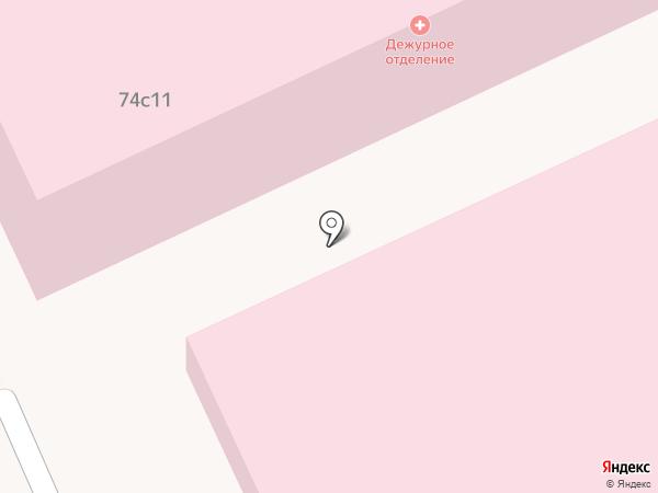 Скорая медицинская помощь на карте Волгограда