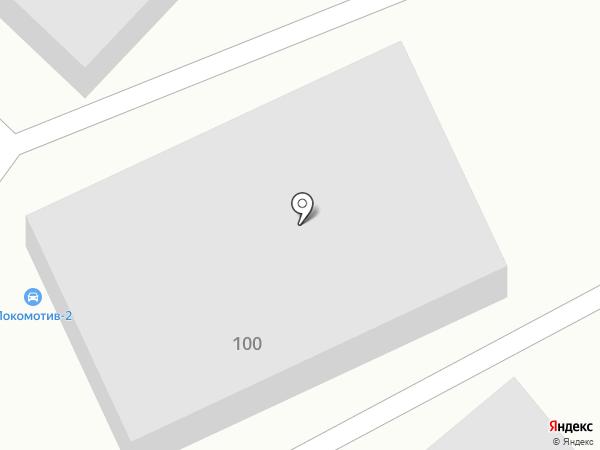 Локомотив-2 на карте Волгограда