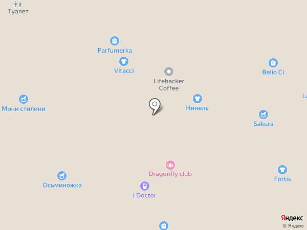 Нинель на карте Волгограда