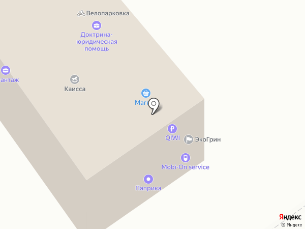 Армеец на карте Волгограда