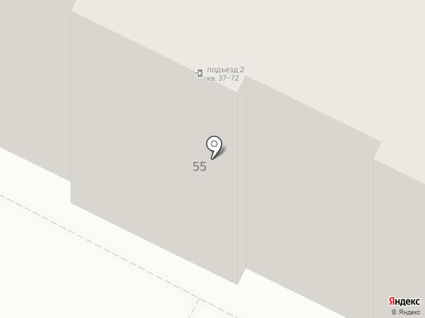 Яблочко на карте Волгограда