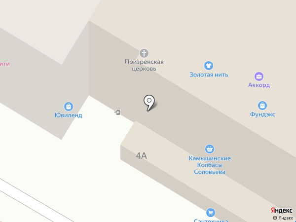 Пикча на карте Волгограда