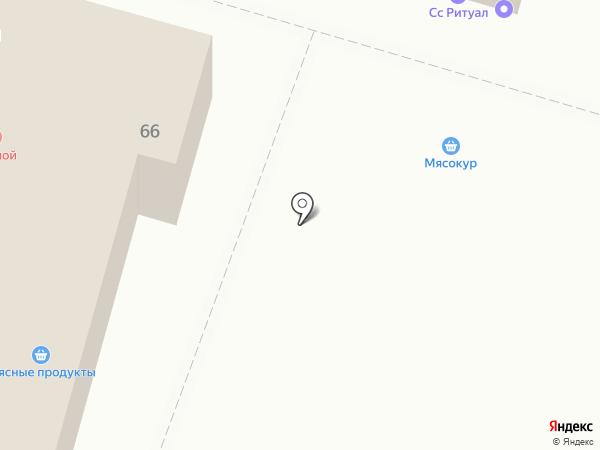 Мясокур на карте Волгограда