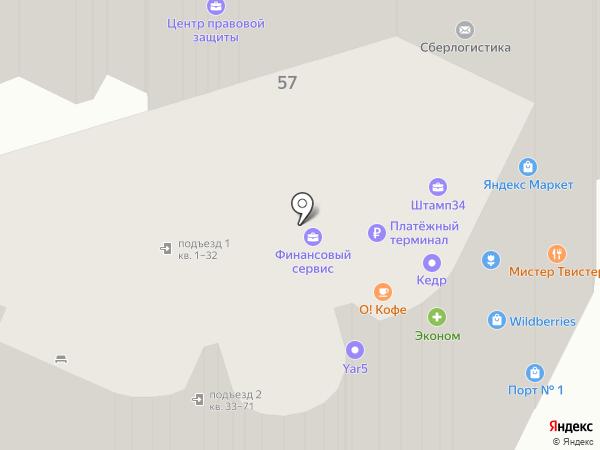 АКБ ТУСАР на карте Волгограда