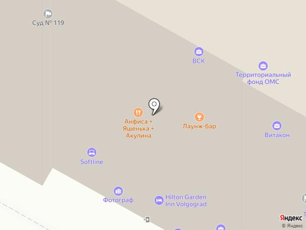 Вегас-Лекс на карте Волгограда