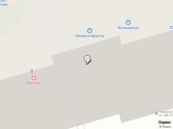 Продовольственный магазин на карте Волгограда
