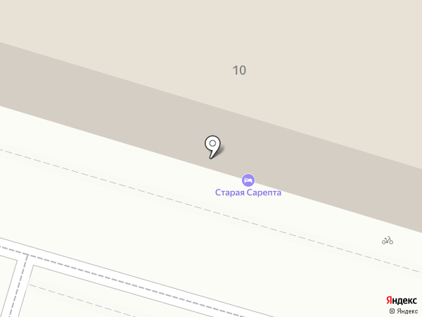 Старая Сарепта на карте Волгограда