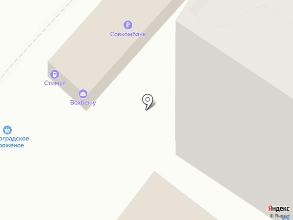 Конфил на карте Волгограда