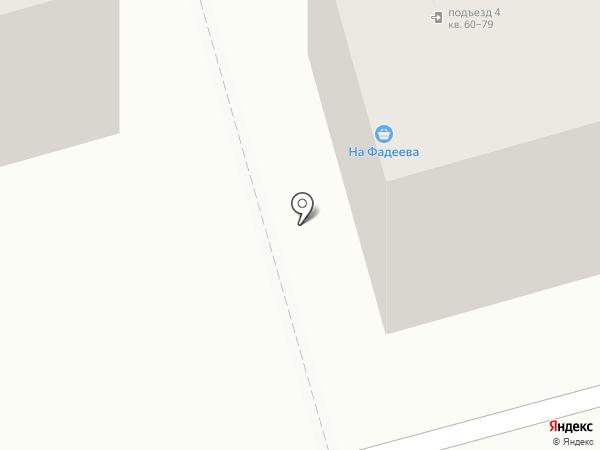 На Фадеева на карте Волгограда