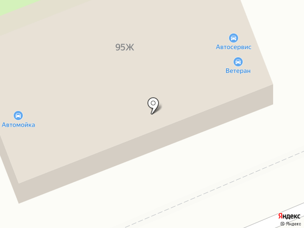 Ветеран на карте Волгограда