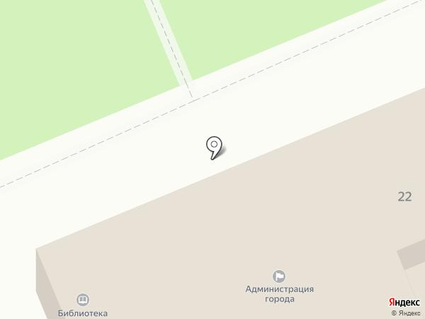 Военно-учетный стол на карте Краснослободска