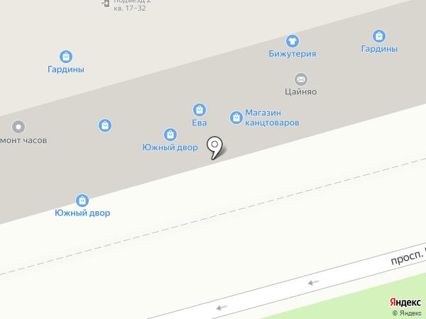 Магазин сувениров и детской одежды на карте Волгограда