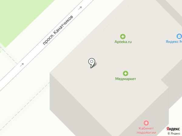 Медмаркет на карте Волгограда
